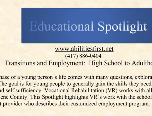 Educational Spotlight: Transitions and Employment