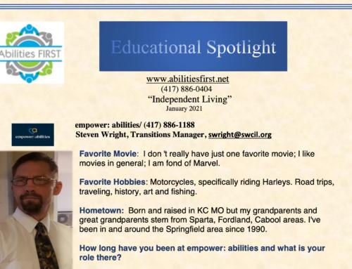 Educational Spotlight : Independent Living